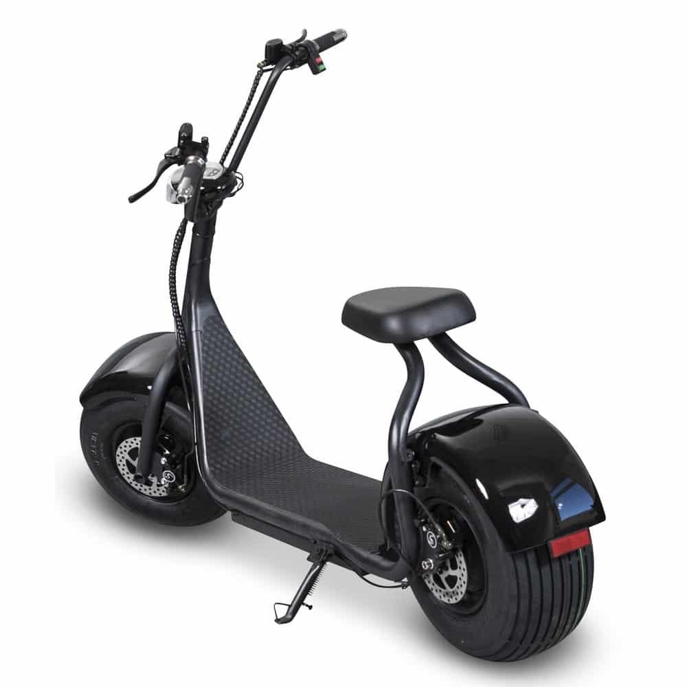 Elscooter Fatbike - 1000W bakifrån